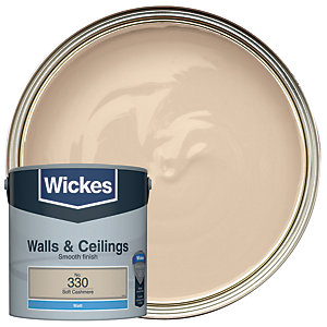 Wickes Soft Cashmere - No. 330 Vinyl Matt Emulsion Paint - 2.5L