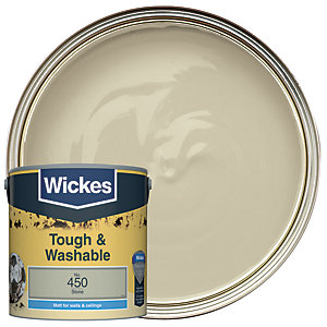 Wickes Stone - No. 450 Tough & Washable Matt Emulsion Paint - 2.5L