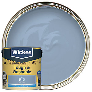 Wickes Tidal Wave - No. 945 Tough & Washable Matt Emulsion Paint - 2.5L