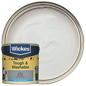 Wickes Tough & Washable Matt Emulsion Paint - No. 215 City Statement 2.5L