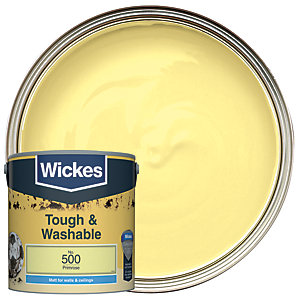 Wickes Tough & Washable Matt Emulsion Paint - No. 500 Primrose 2.5L