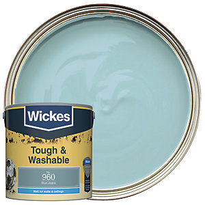 Wickes Tough & Washable Matt Emulsion Paint - No. 960 Blue Jeans 2.5L