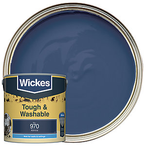 Wickes Tough & Washable Matt Emulsion Paint - No. 970 Admiral 2.5L
