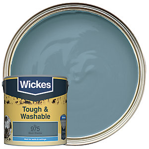 Wickes Tough & Washable Matt Emulsion Paint - No. 975 Moon Shadow 2.5L