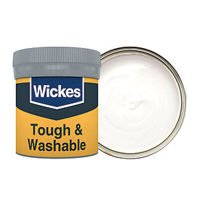 Wickes Tough & Washable Matt Emulsion Paint Tester Pot - No. 100 Almost White 50ml