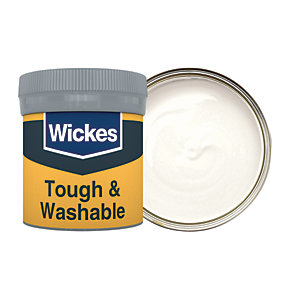 Wickes Tough & Washable Matt Emulsion Paint Tester Pot - No. 135 Frosted White 50ml