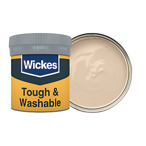 Wickes Tough & Washable Matt Emulsion Paint Tester Pot - No. 330 Soft Cashmere 50ml
