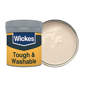 Wickes Tough & Washable Matt Emulsion Paint Tester Pot - No. 410 Calico 50ml