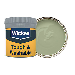 Wickes Tough & Washable Matt Emulsion Paint Tester Pot - No. 830 Olive Green 50ml