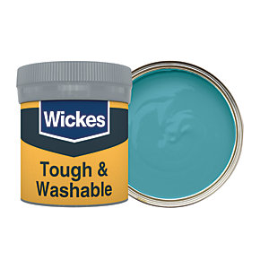 Wickes Tough & Washable Matt Emulsion Paint Tester Pot - No. 940 Teal 50ml