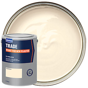 Wickes Trade Emulsion Paint for New Plaster - Magnolia 5L