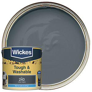 Wickes Urban Nights - No. 240 Tough & Washable Matt Emulsion Paint - 2.5L
