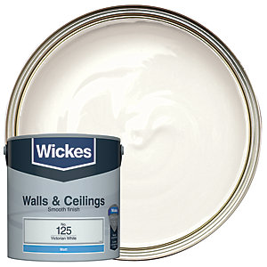 Wickes Vinyl Matt Emulsion Paint - No. 125 Victorian White 2.5L