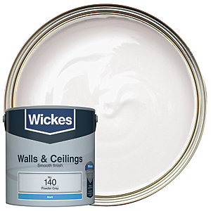Wickes Vinyl Matt Emulsion Paint - No. 140 Powder Grey 2.5L