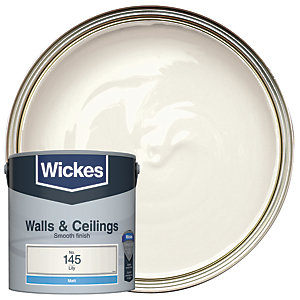 Wickes Vinyl Matt Emulsion Paint - No. 145 Lily 2.5L