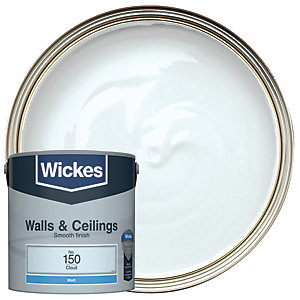 Wickes Vinyl Matt Emulsion Paint - No. 150 Cloud 2.5L