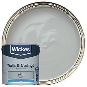 Wickes Vinyl Matt Emulsion Paint - No. 210 Steel 2.5L