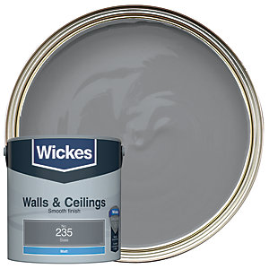 Wickes Vinyl Matt Emulsion Paint - No. 235 Slate 2.5L