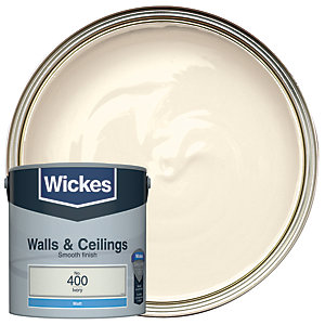 Wickes Vinyl Matt Emulsion Paint - No. 400 Ivory 2.5L