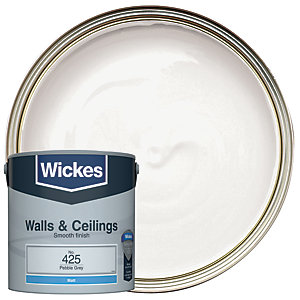 Wickes Vinyl Matt Emulsion Paint - No. 425 Pebble Grey 2.5L