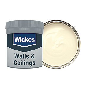 Wickes Vinyl Matt Emulsion Paint Tester Pot - No. 160 Elderflower 50ml