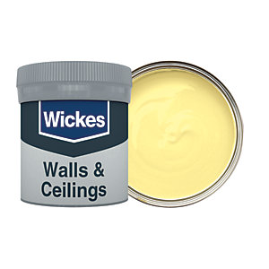 Wickes Vinyl Matt Emulsion Paint Tester Pot - No. 500 Primrose 50ml
