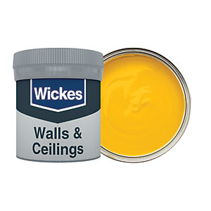 Wickes Vinyl Matt Emulsion Paint Tester Pot - No. 520 Saffron 50ml