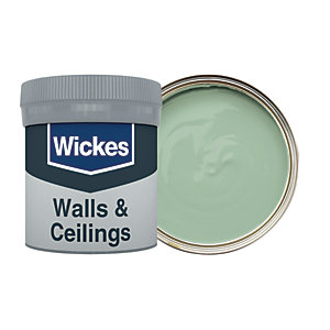 Wickes Vinyl Matt Emulsion Paint Tester Pot - No. 820 Subtly Green 50ml