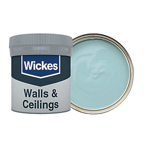 Wickes Vinyl Matt Emulsion Paint Tester Pot - No. 960 Blue Jeans 50ml