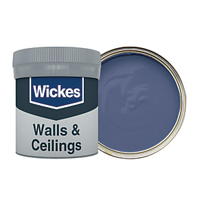 Wickes Vinyl Matt Emulsion Paint Tester Pot - No. 965 Navy Blue 50ml
