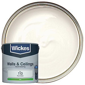 Wickes Vinyl Silk Emulsion Paint - No. 110 Pure Cotton 2.5L