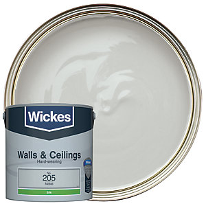 Wickes Vinyl Silk Emulsion Paint - No. 205 Nickel 2.5L