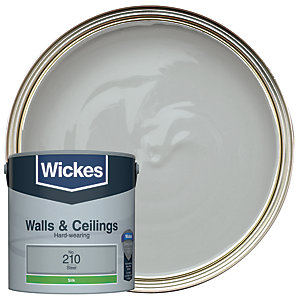 Wickes Vinyl Silk Emulsion Paint - No. 210 Steel 2.5L
