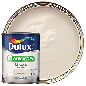Dulux Quick Dry Gloss Paint - Natural Hessian 750ml