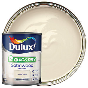 Dulux Quick Dry Satinwood Paint - Barley White 750ml