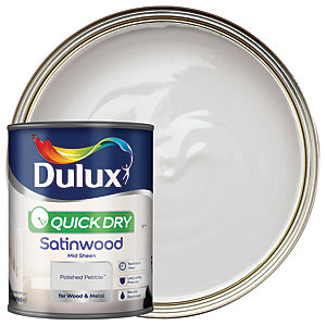 Dulux Quick Dry Satinwood Paint - Polished Pebble 750ml