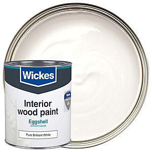 Wickes Colour @ Home Eggshell Paint - Pure Brilliant White 750ml