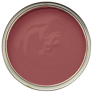 Wickes One Coat Gloss Paint - Brick Red 750ml