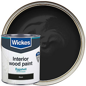 Wickes Professional Eggshell Paint - Black 750ml