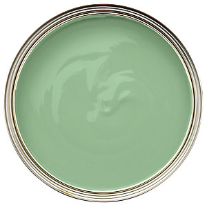 Wickes Quick Dry Satinwood Paint - Green Lawn 750ml