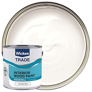 Wickes Trade Eggshell Paint - Pure Brilliant White 2.5L