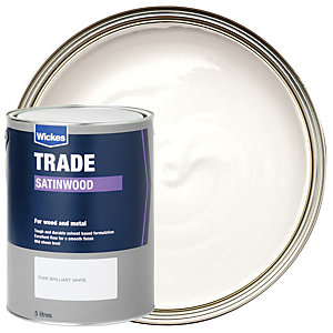 Wickes Trade Satinwood Pure Brilliant White 5L