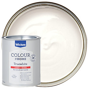 Wickes Truewhite Liquid Gloss Paint - Pure Brilliant White 750ml