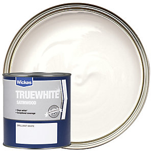 Wickes Truewhite Satinwood - Brilliant White 1L