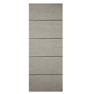 Wickes Milan Light Grey Real Wood 5 Panel Internal Door - 1981mm x 762mm