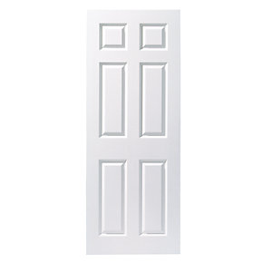 Internal Moulded Door White Primed Smooth 6 Panel