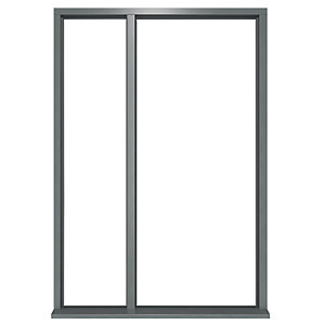JCI Ultimate Door Frame with Single Side Light Grey