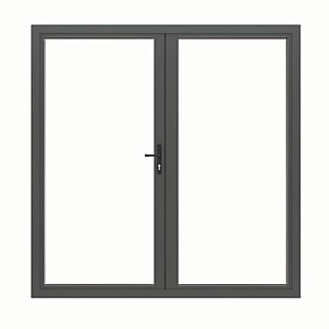 Jci Aluminium French Door Grey Outwards Opening
