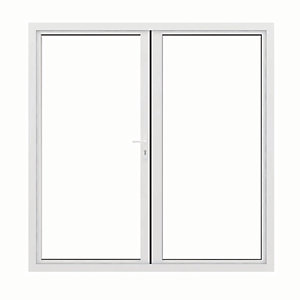 Jci Aluminium French Door White Outwards Opening