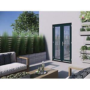 Jeld-Wen Bedgebury Hardwood French Doors Grey Finish